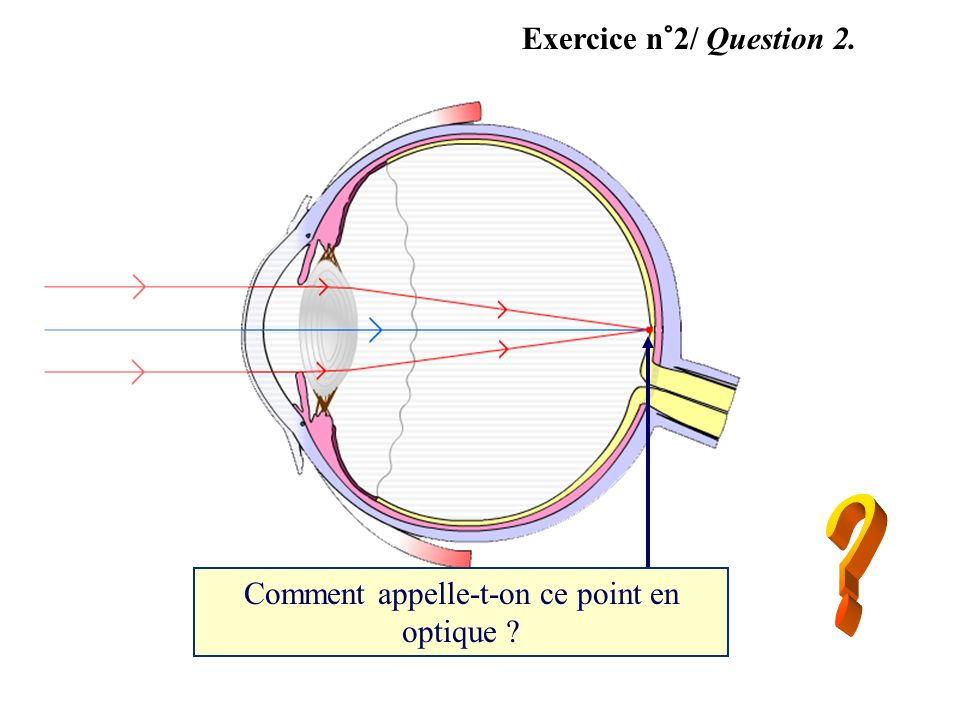 Comment appelle-t-on ce point en optique