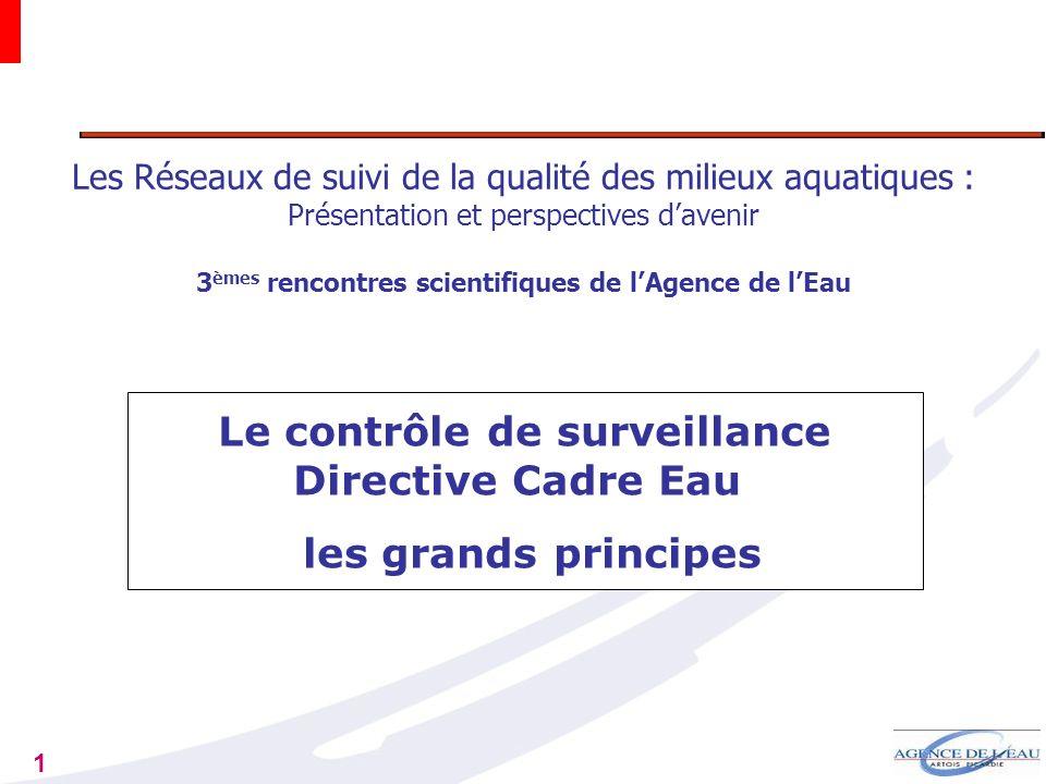 Le contrôle de surveillance Directive Cadre Eau les grands principes