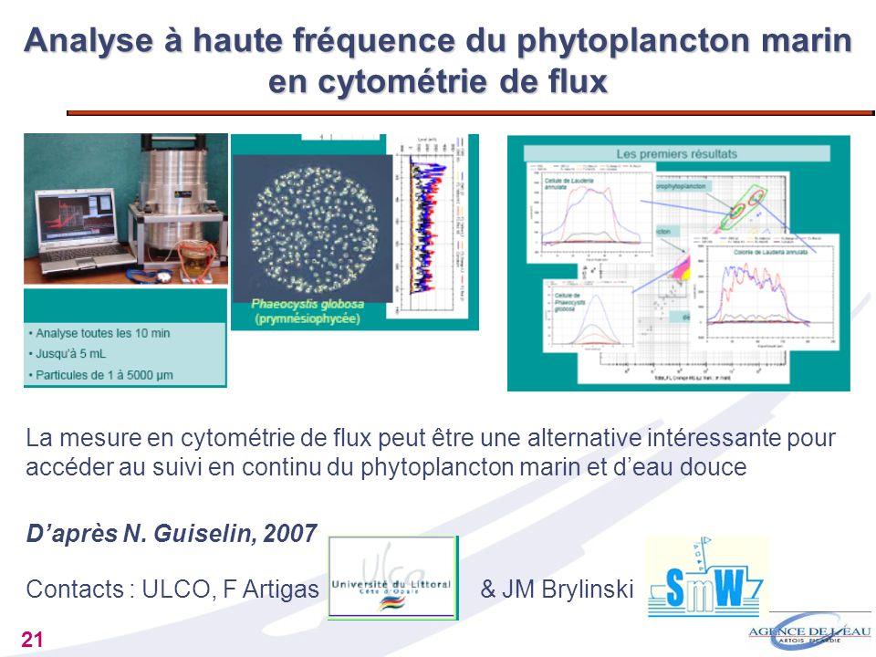 Analyse à haute fréquence du phytoplancton marin en cytométrie de flux
