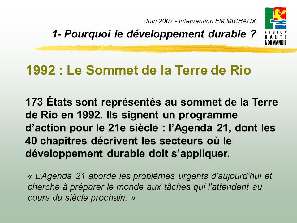 1992 : Le Sommet de la Terre de Rio