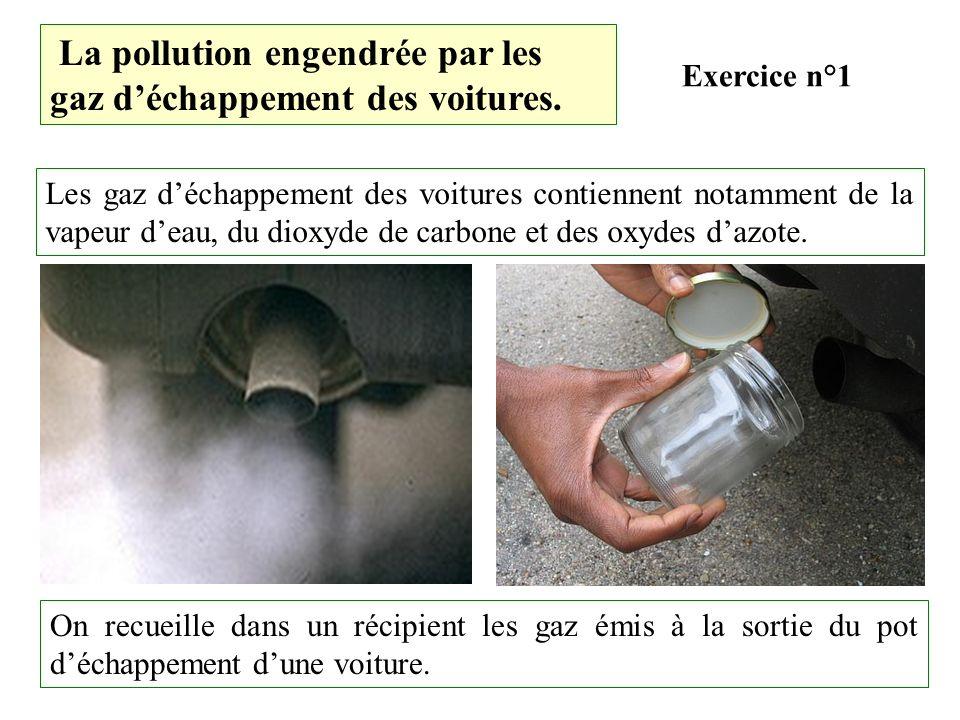 La pollution engendrée par les gaz d'échappement des voitures.