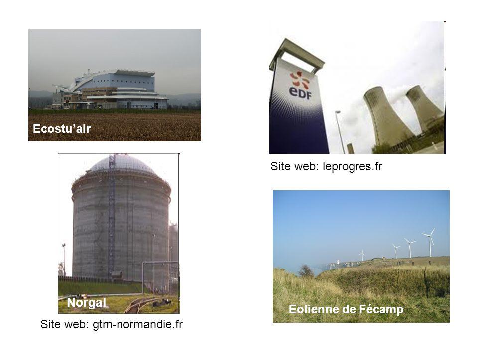 Norgal Ecostu'air Site web: leprogres.fr Eolienne de Fécamp