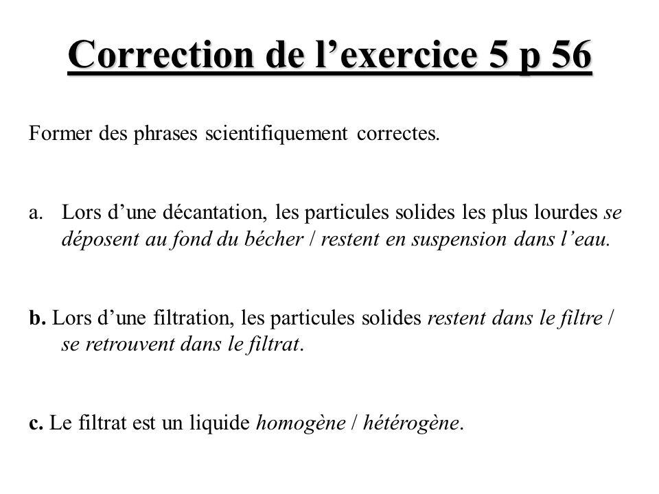 Correction de l'exercice 5 p 56