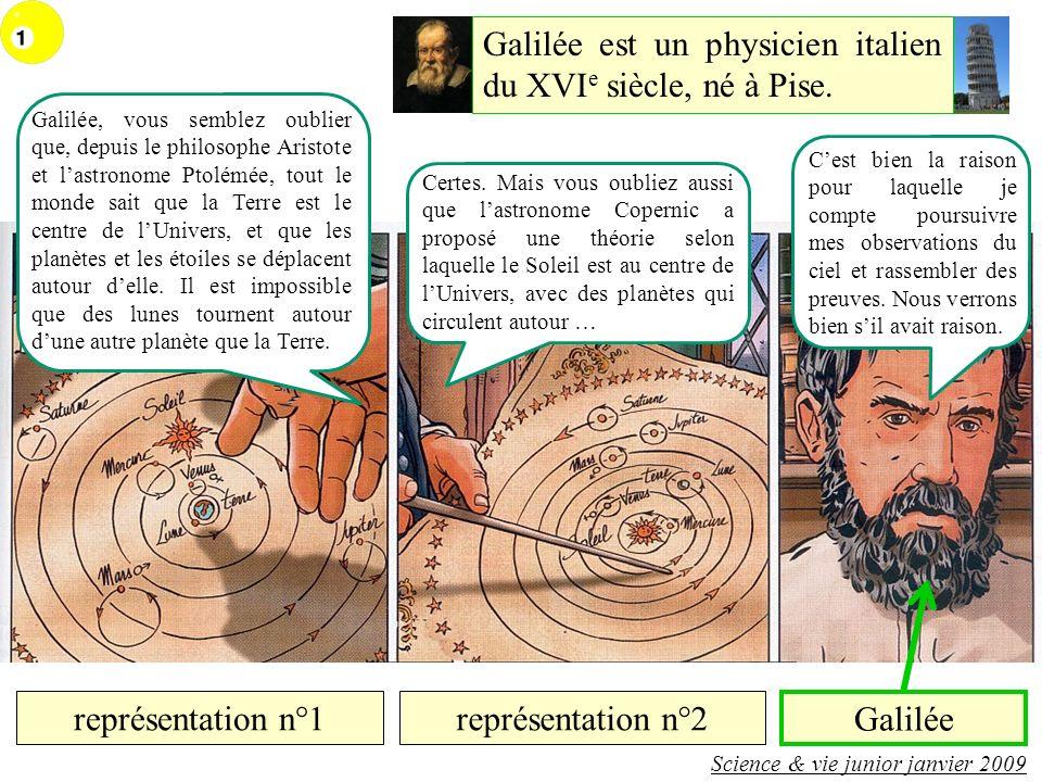 Galilée est un physicien italien du XVIe siècle, né à Pise.