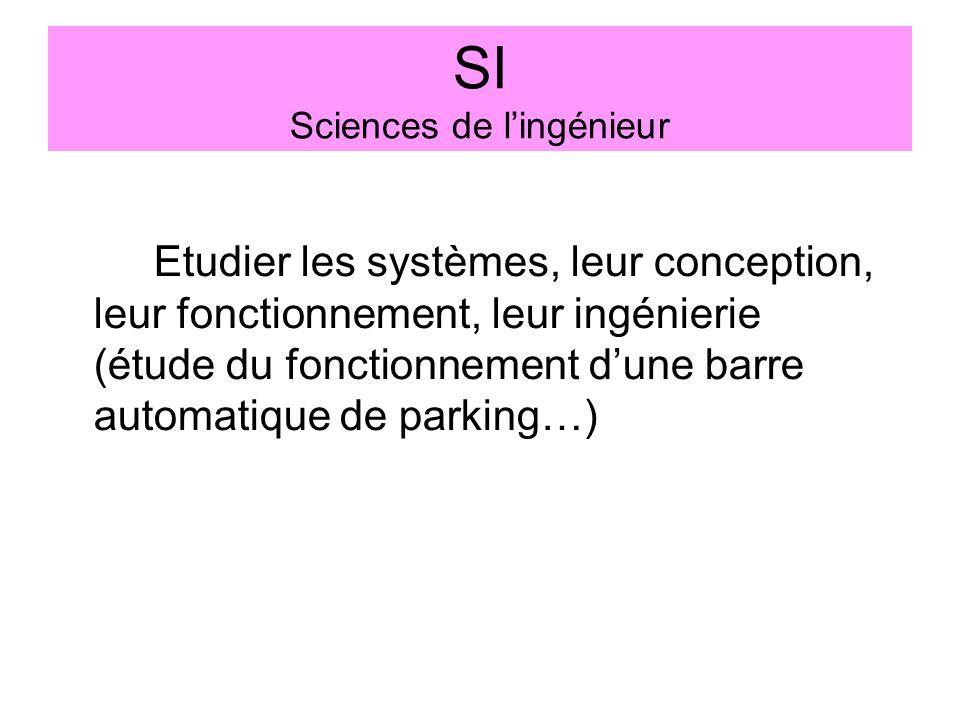 SI Sciences de l'ingénieur
