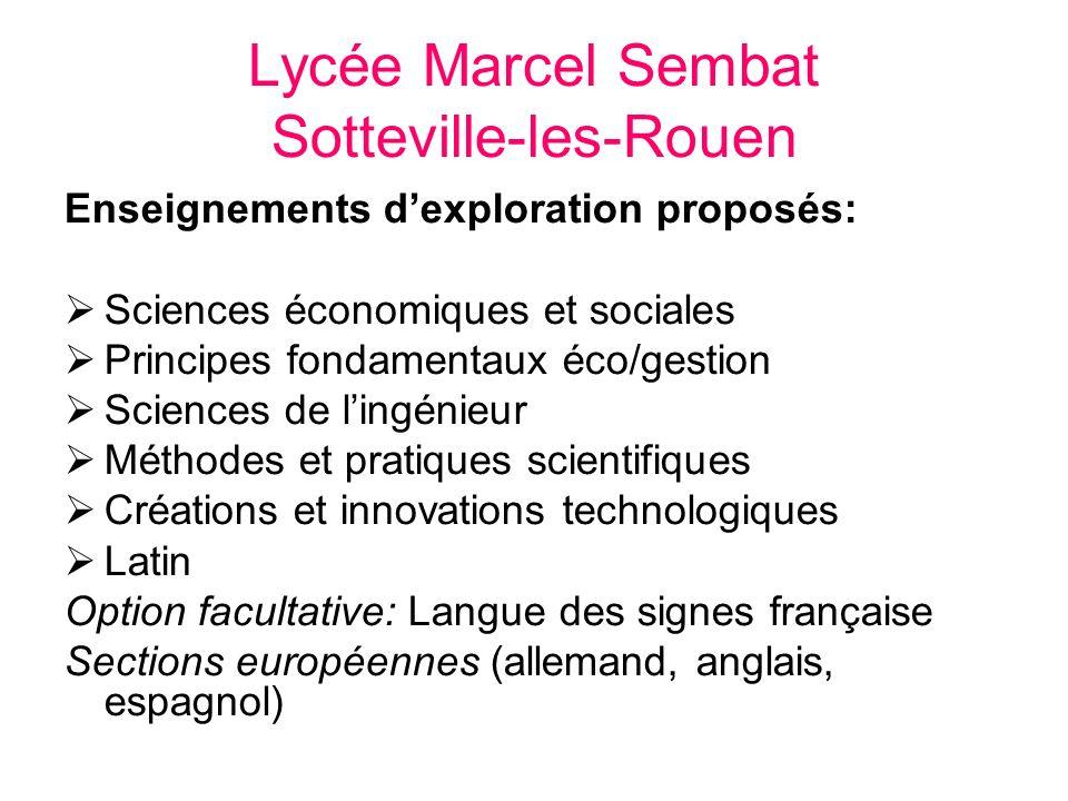 Lycée Marcel Sembat Sotteville-les-Rouen