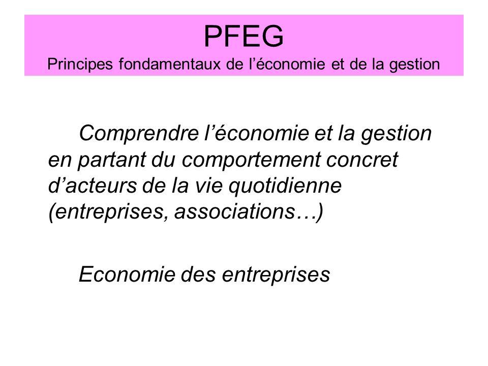 PFEG Principes fondamentaux de l'économie et de la gestion