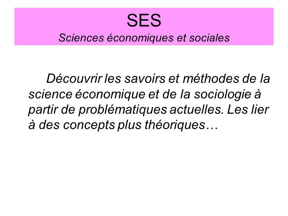 SES Sciences économiques et sociales
