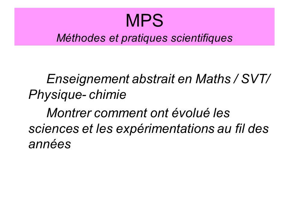 MPS Méthodes et pratiques scientifiques