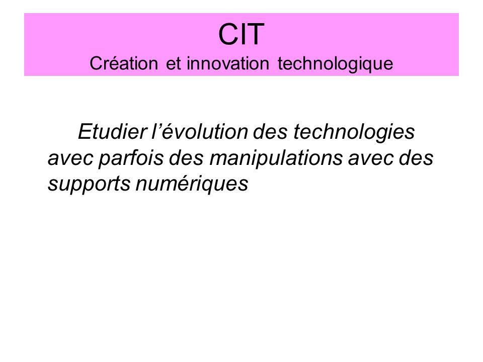 CIT Création et innovation technologique