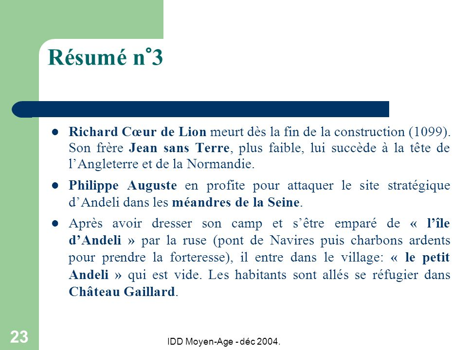 Résumé n°3