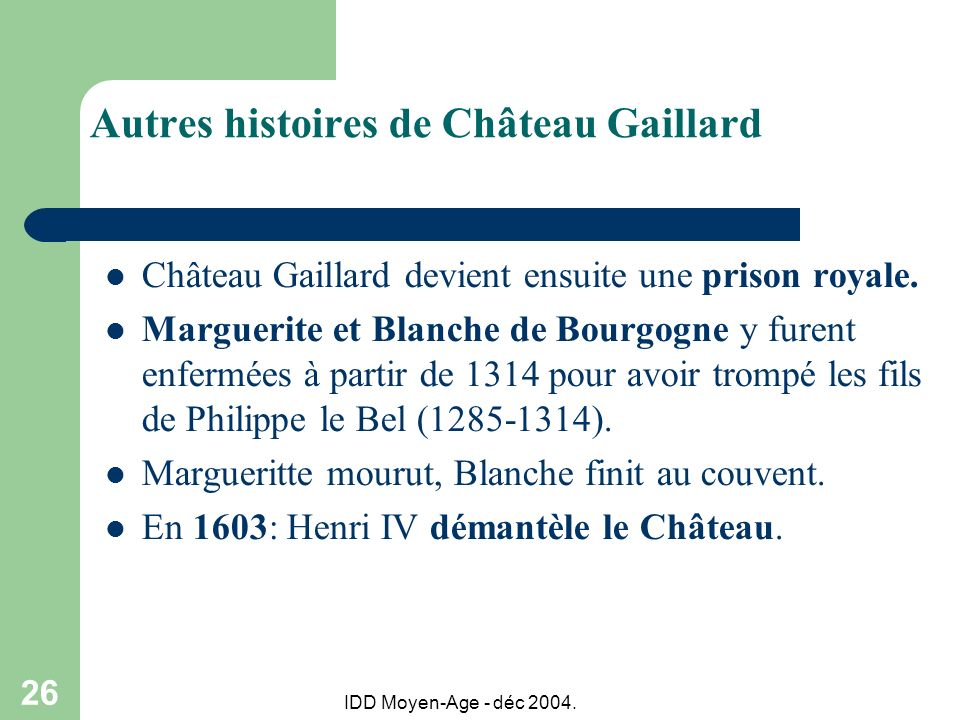 Autres histoires de Château Gaillard