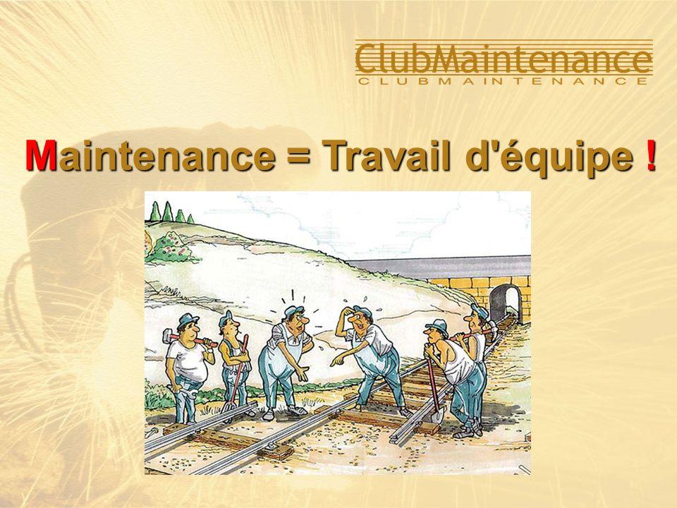 Maintenance = Travail d équipe !
