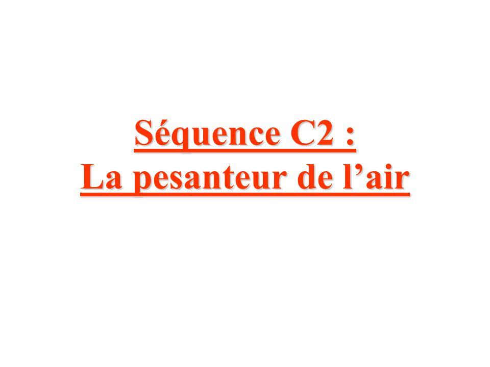 Séquence C2 : La pesanteur de l'air