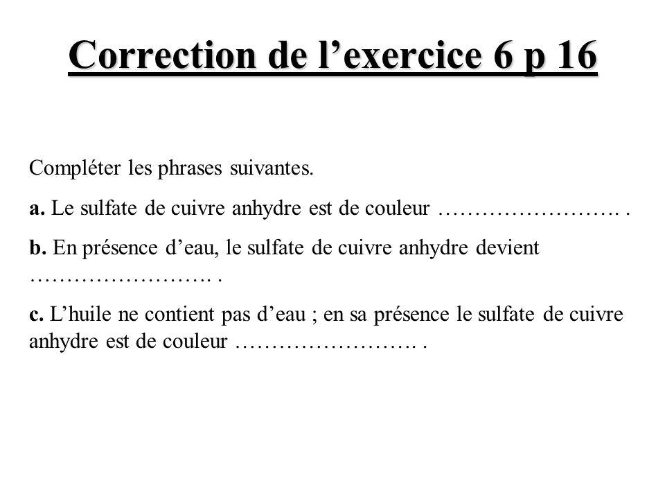 Correction de l'exercice 6 p 16