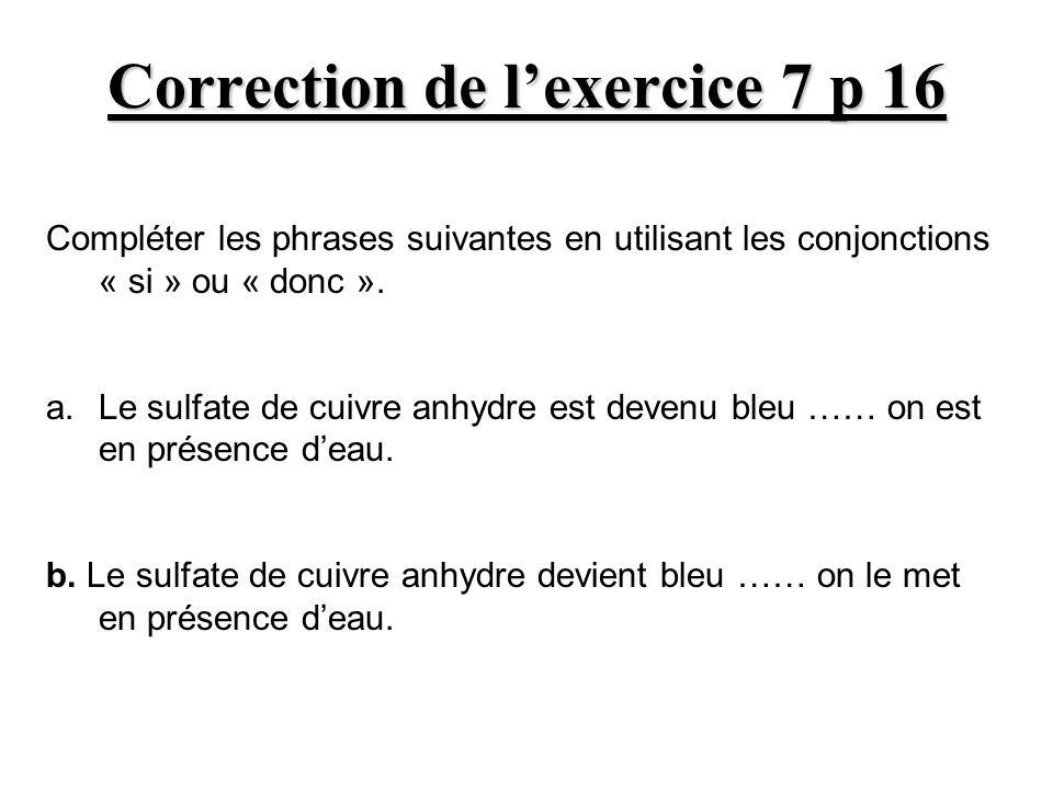 Correction de l'exercice 7 p 16