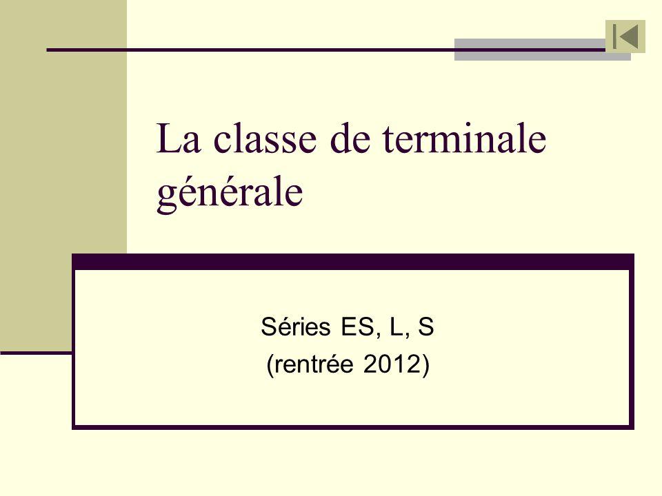 La classe de terminale générale