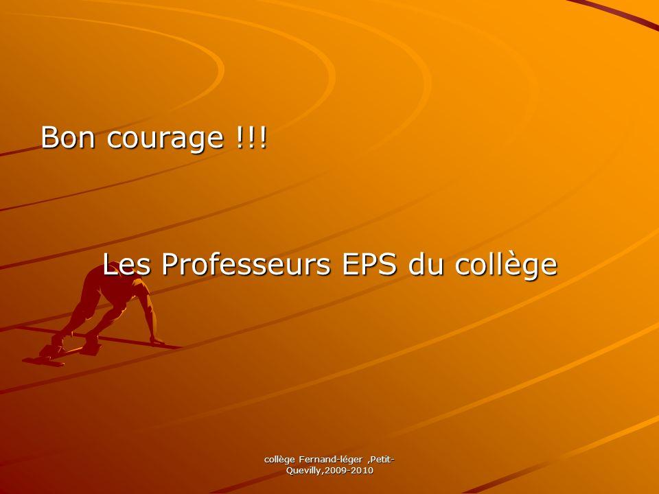 Les Professeurs EPS du collège