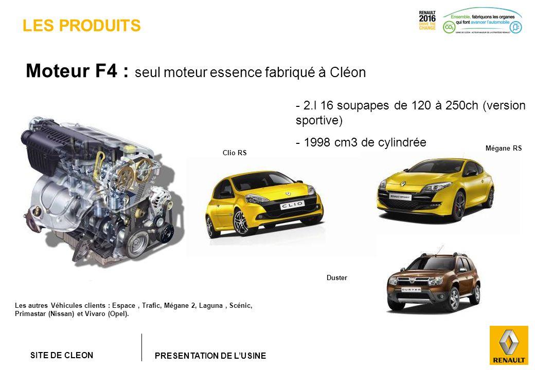 Moteur F4 : seul moteur essence fabriqué à Cléon