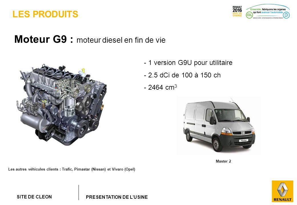 Moteur G9 : moteur diesel en fin de vie