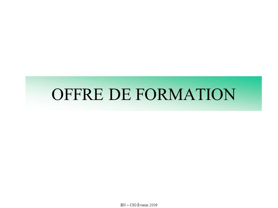OFFRE DE FORMATION BN – CIO Évreux 2009
