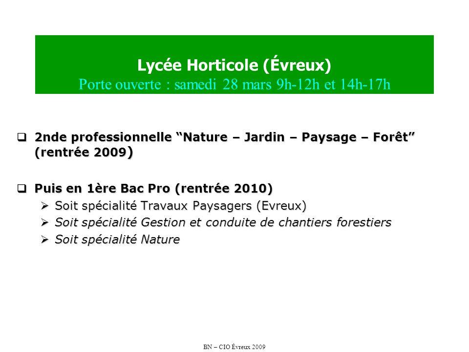 Lycée Horticole (Évreux) Porte ouverte : samedi 28 mars 9h-12h et 14h-17h