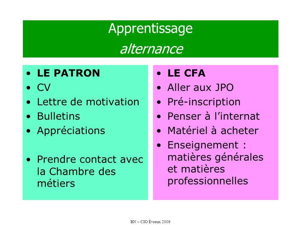 Apprentissage alternance
