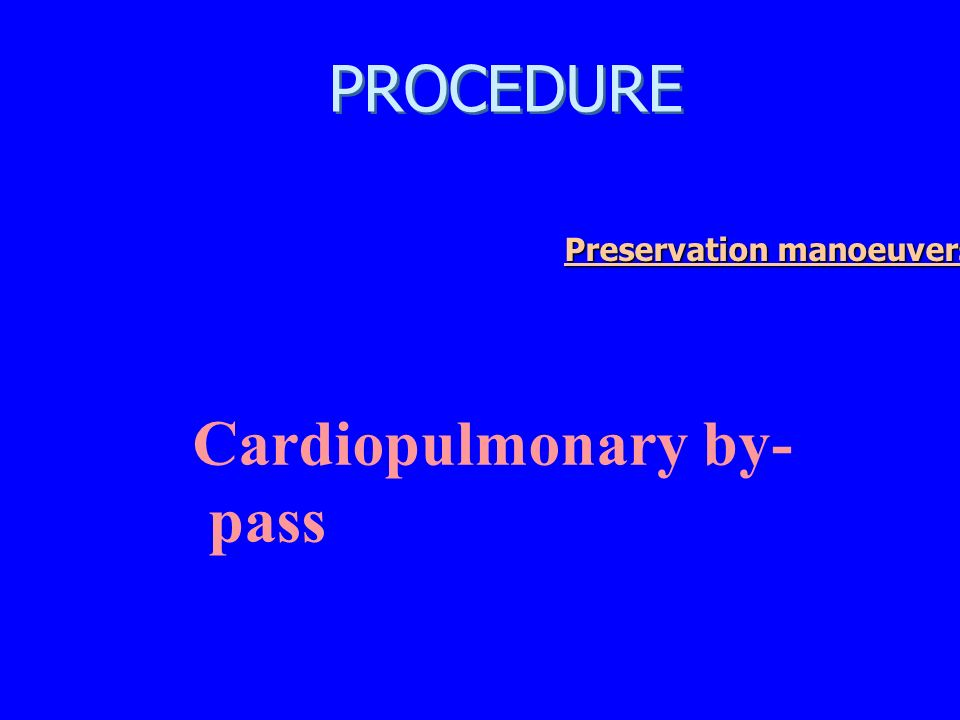Cardiopulmonary by-pass