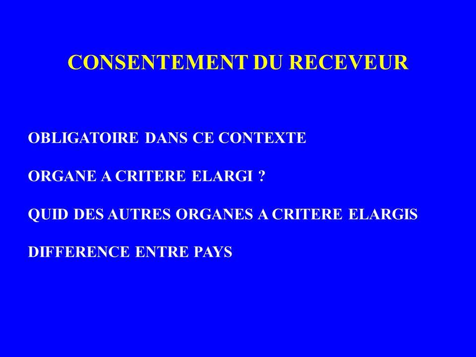 CONSENTEMENT DU RECEVEUR