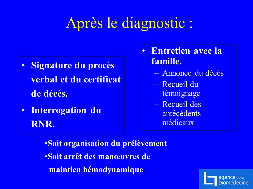 Après le diagnostic : Entretien avec la famille.