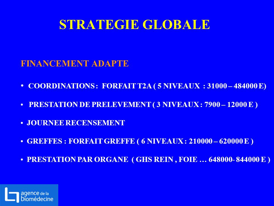STRATEGIE GLOBALE FINANCEMENT ADAPTE