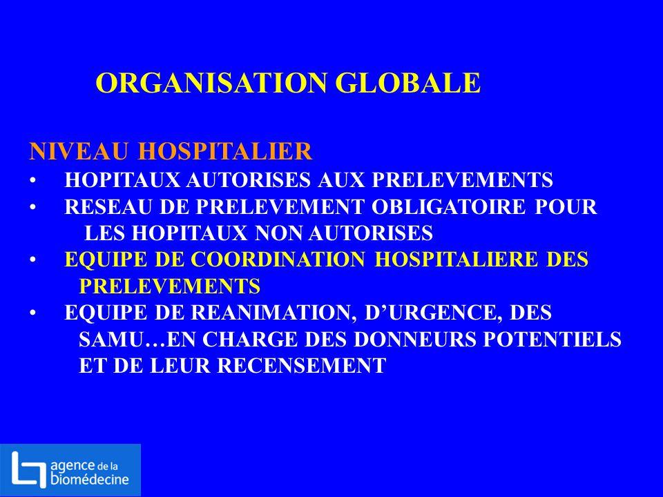 ORGANISATION GLOBALE NIVEAU HOSPITALIER