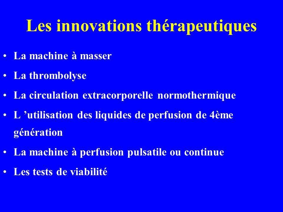 Les innovations thérapeutiques