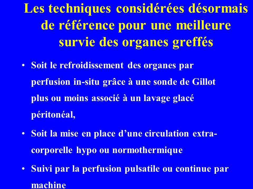 Les techniques considérées désormais de référence pour une meilleure survie des organes greffés