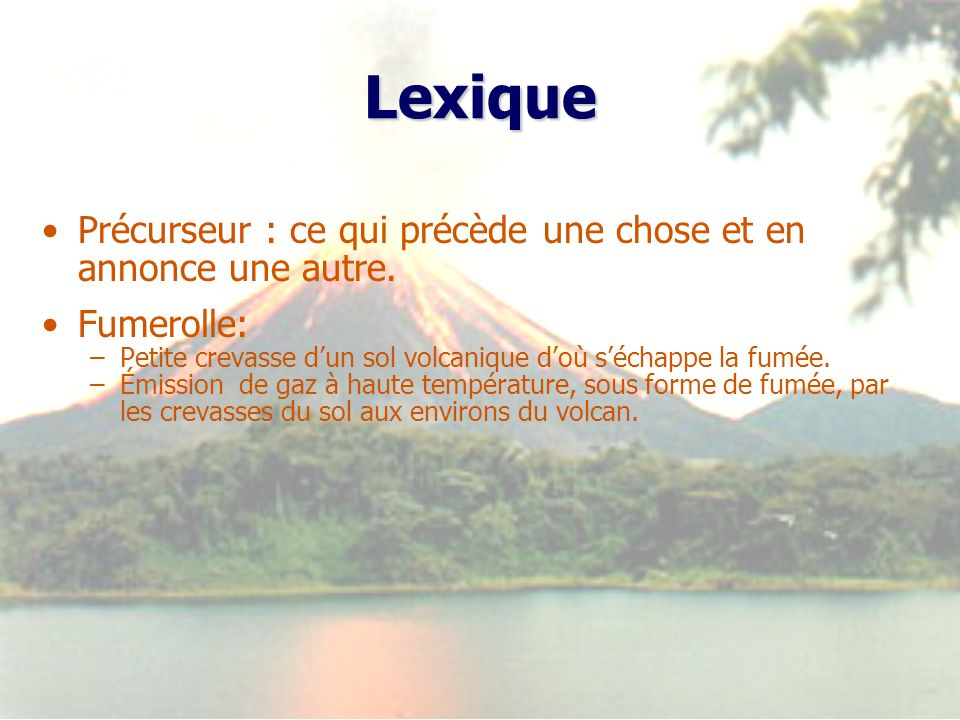 Lexique Précurseur : ce qui précède une chose et en annonce une autre.