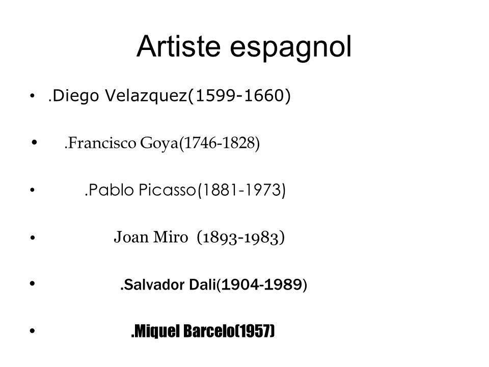 Artiste espagnol .Diego Velazquez(1599-1660)