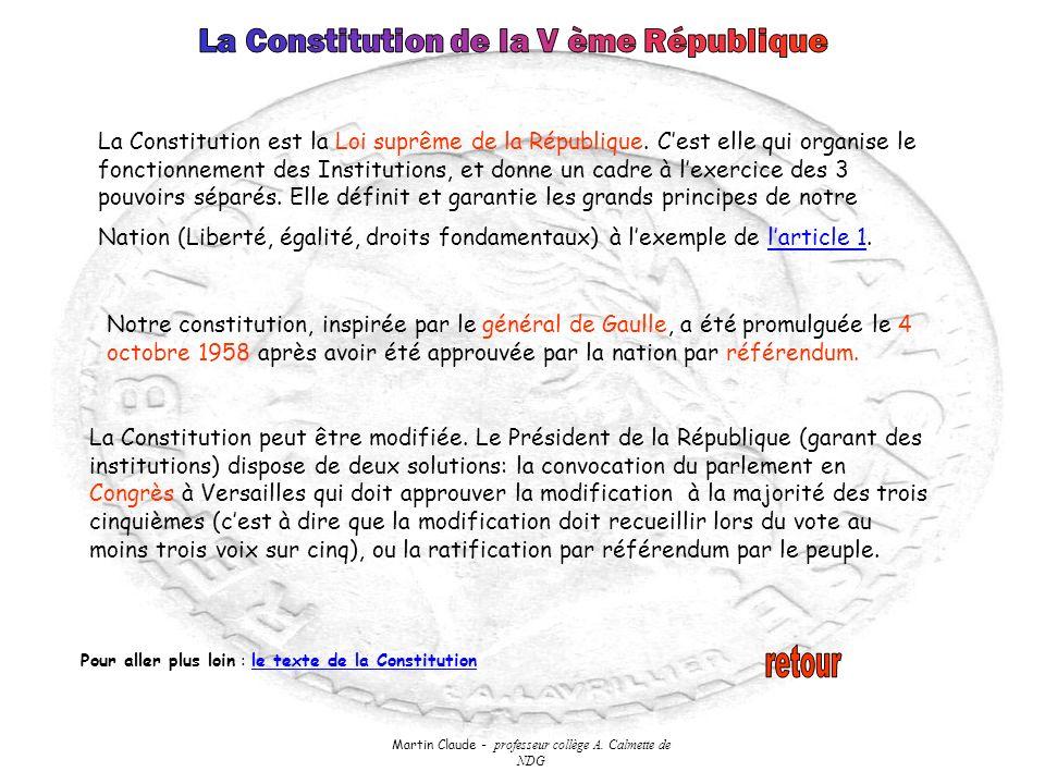 La Constitution de la V ème République