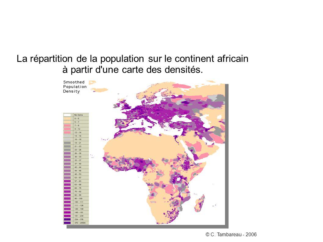 La répartition de la population sur le continent africain