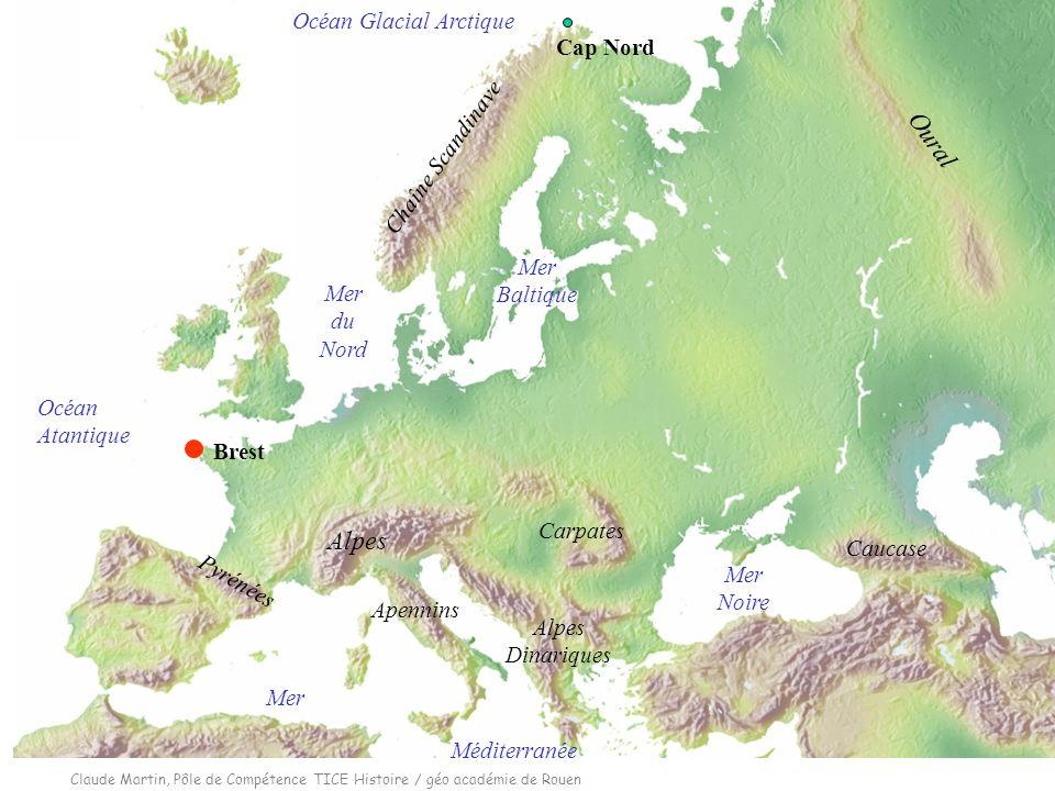 Oural Alpes Océan Glacial Arctique Cap Nord Chaîne Scandinave