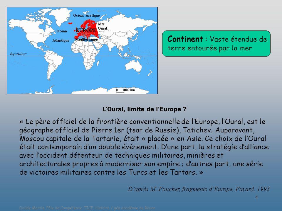 L'Oural, limite de l'Europe