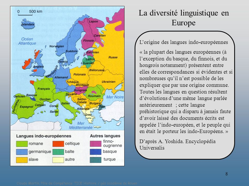 La diversité linguistique en Europe