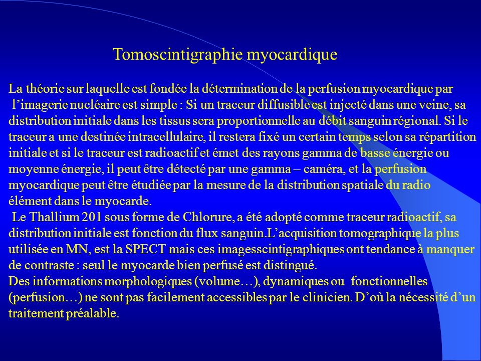 Tomoscintigraphie myocardique