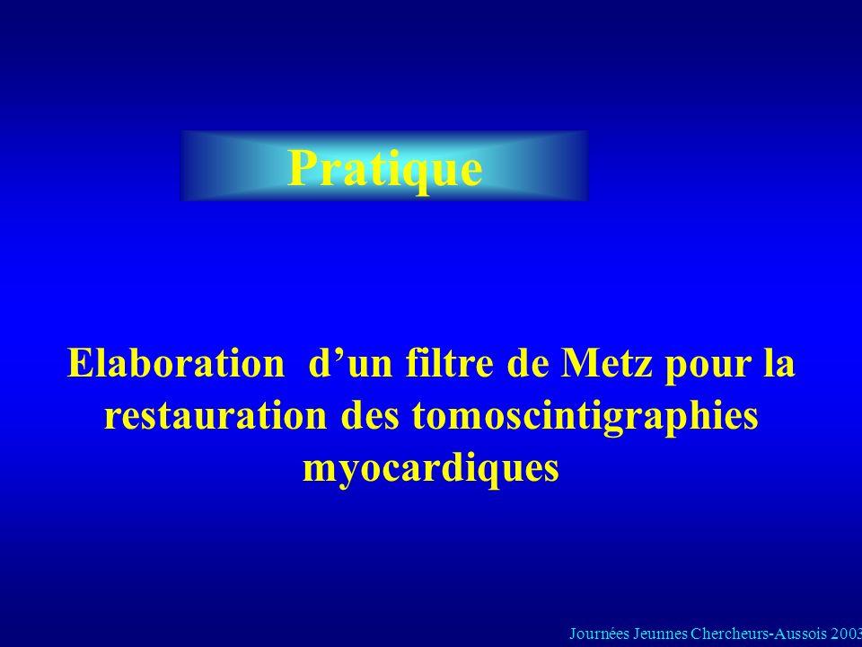 Pratique Elaboration d'un filtre de Metz pour la restauration des tomoscintigraphies myocardiques.