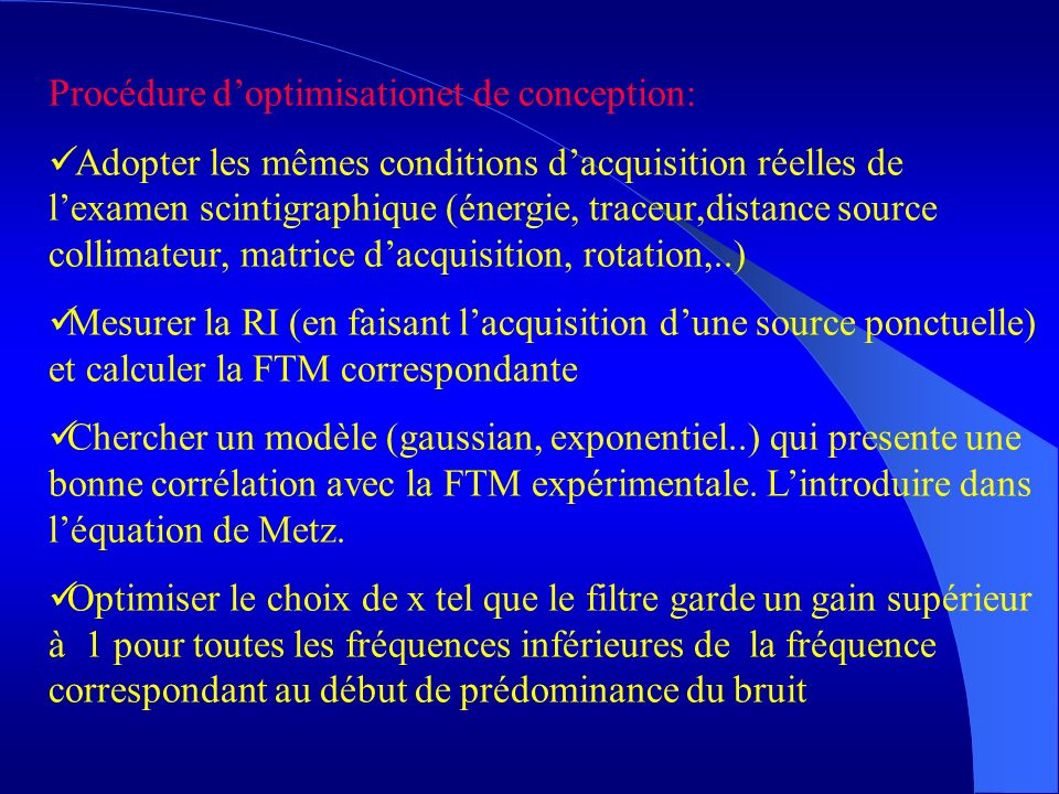 Procédure d'optimisationet de conception: