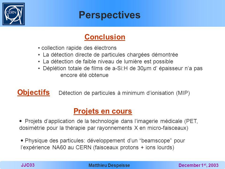 Perspectives Conclusion Objectifs Projets en cours