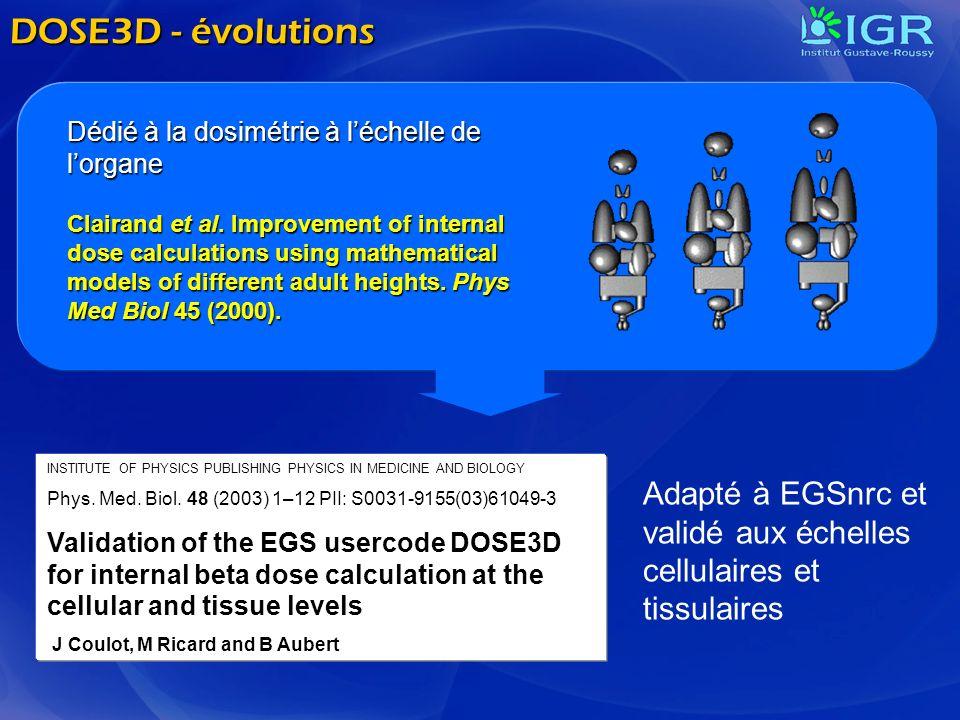 DOSE3D - évolutions