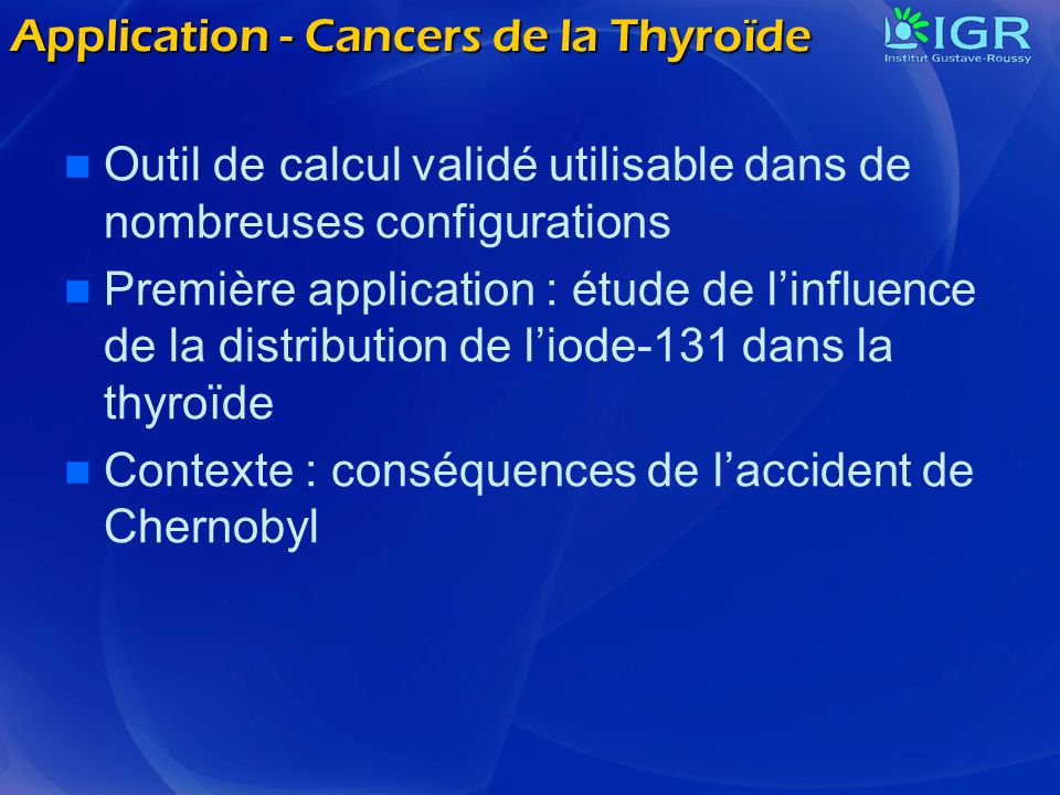 Application - Cancers de la Thyroïde