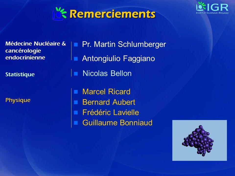 Remerciements Pr. Martin Schlumberger Antongiulio Faggiano