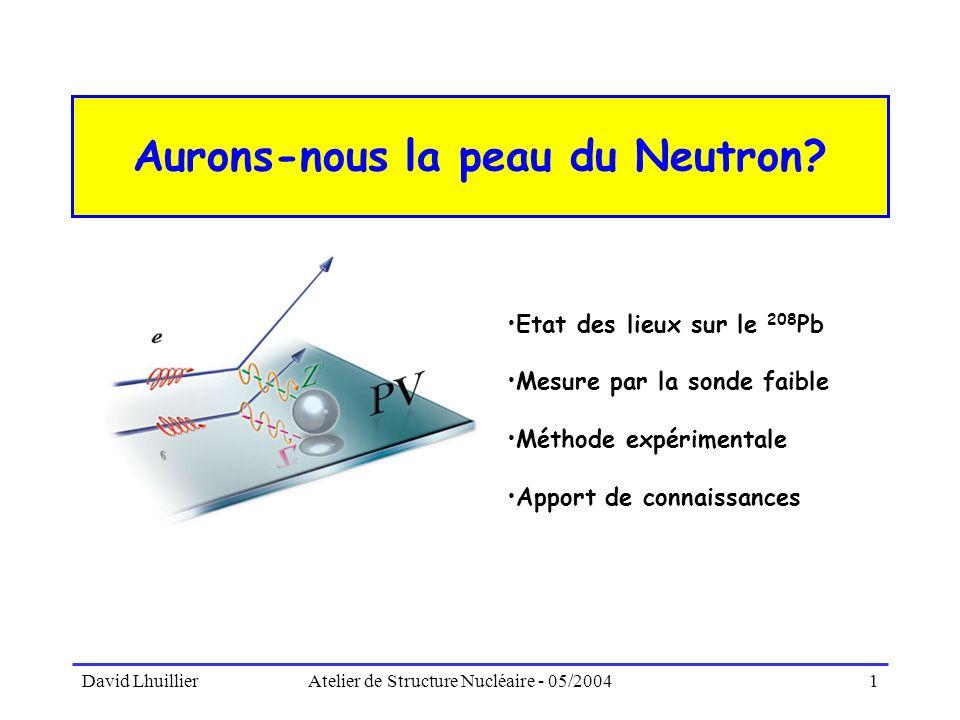 Aurons-nous la peau du Neutron