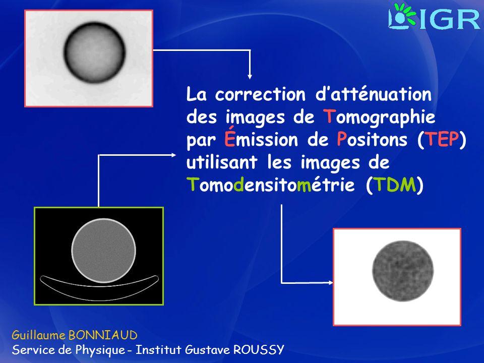 La correction d'atténuation des images de Tomographie par Émission de Positons (TEP) utilisant les images de Tomodensitométrie (TDM)